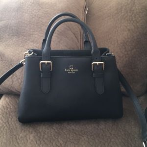 Kate Spade Purse - Black leather/Gold hardware